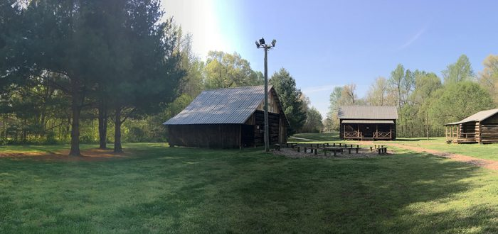 Cabins at Pioneer Village in Yellow Creek Park
